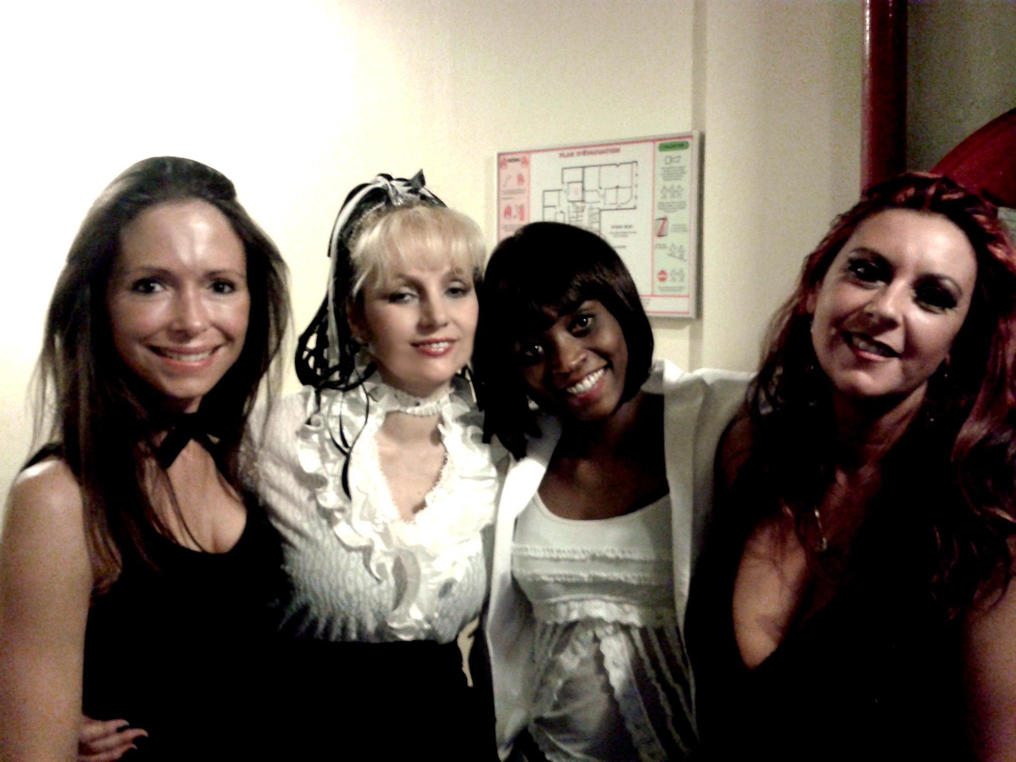 avec mes amies Bridget Stolk et Jeanne Aster cathy varna
